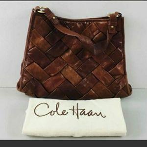 Cole Haan leather Handbag with dust ruffle bag